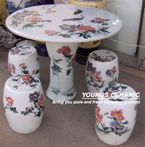 Antique Ceramic Table Ls by Antique Painted Ceramic Porcelain Tables And Stools View Porcelain Stools And