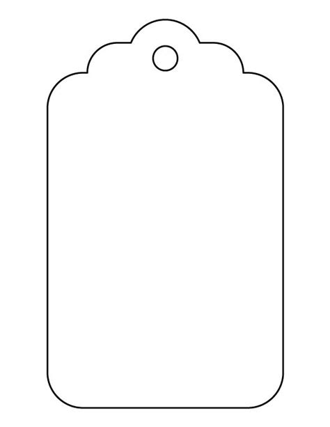free tag templates large gift tag pattern use the printable outline for