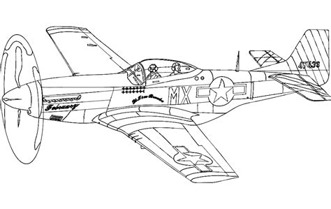 P 51 Mustang Autocad by P51 Mustang Silhouette Aircraft Dxf File Free