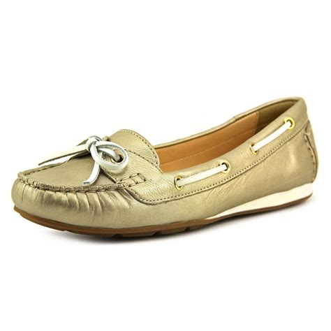 cole haan womens shoes cole haan cole haan tali boat shoe ii leather gold
