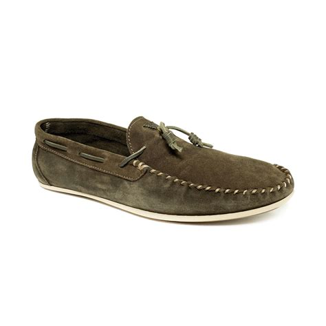 green loafers for armani suede tassel loafers in green for light