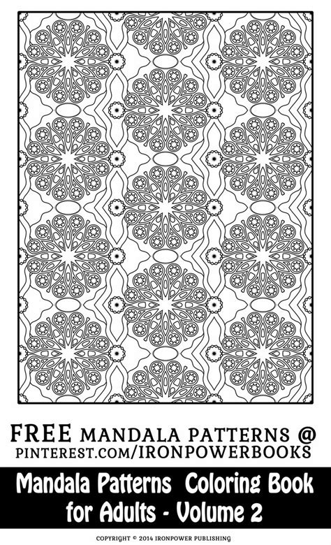 mandala coloring book for adults volume 2 1000 ideas about pattern coloring pages on