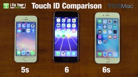 touch id  iphone  iphone   iphone  compared   video