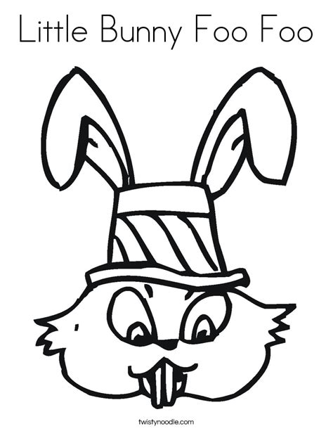 little bunny coloring pages little bunny foo foo coloring page twisty noodle