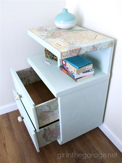 Decoupage Furniture With Maps - 16 creative ways to decoupage furniture in the garage 174