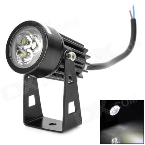 led spot 12v ultrafire 3w 180lm 6000k 3 led cold white light spotlight