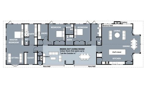 long ranch house plans functional shotgun house floor plan google search our