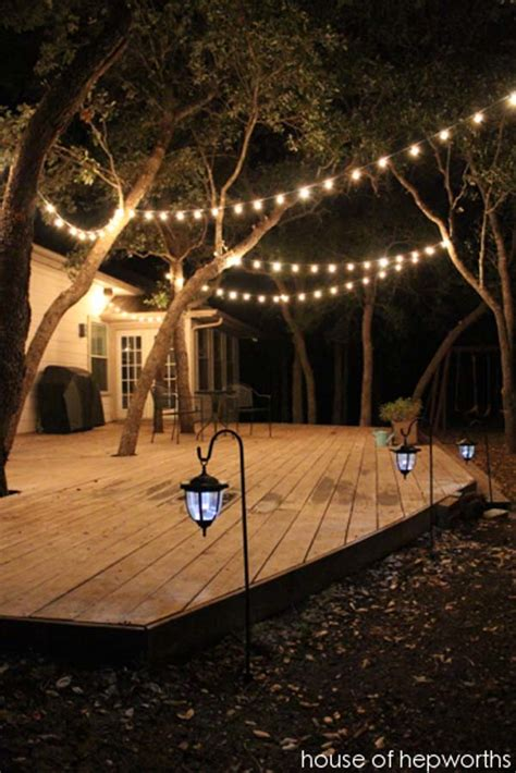 Lights In Backyard by 15 Diy Backyard And Patio Lighting Projects Amazing Diy Interior Home Design