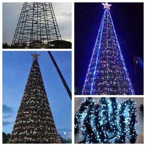 tree light outdoor big pvc artificial giant christmas tree