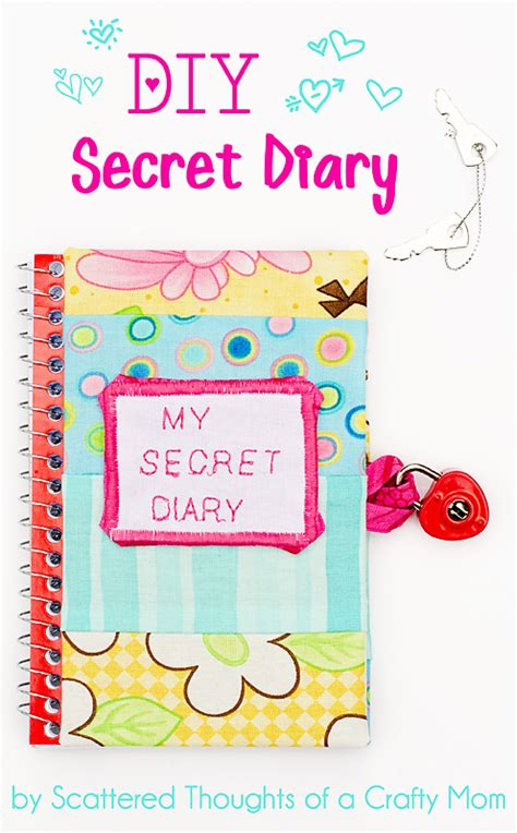 How To Make A Secret Diary Out Of Paper - diy secret diary scattered thoughts of a crafty