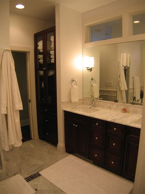 closet in bathroom built in linen closet bathroom traditional with built ins chicago city double