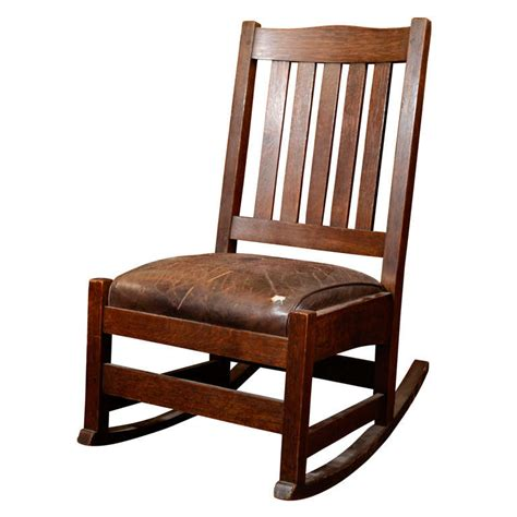 arts and crafts recliner chair antique arts and crafts rocking chair by stickley
