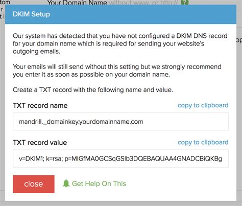 Creating SPF and DKIM DNS records .txt