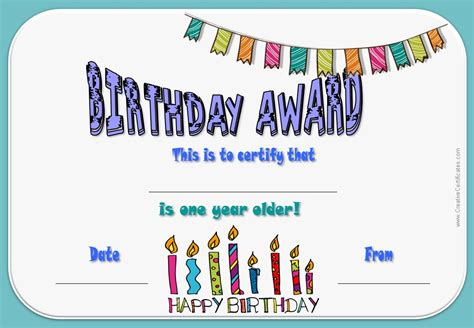 printable birthday templates 7 best images of printable birthday certificates happy