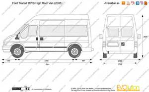 the blueprints vector drawing ford transit mwb