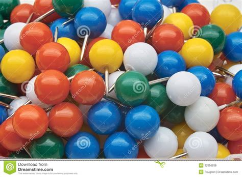 Colored Push Pins Royalty Free Colored Push Pins Royalty Free Stock Photos Image 12556938