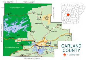 garland county map encyclopedia of arkansas