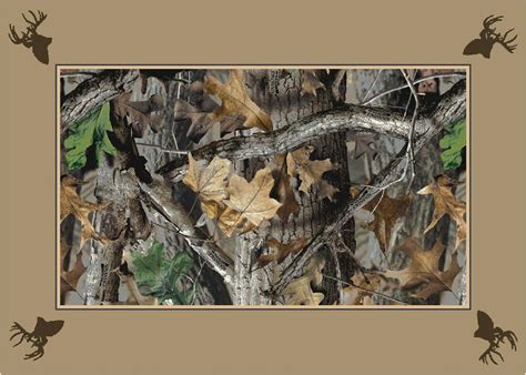 Realtree Camo Rug by Timber Realtree Bordered Leaves Branches Camouflage Area Rug
