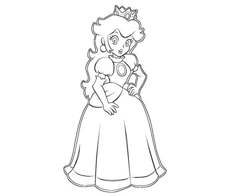 free mario and peach coloring pages