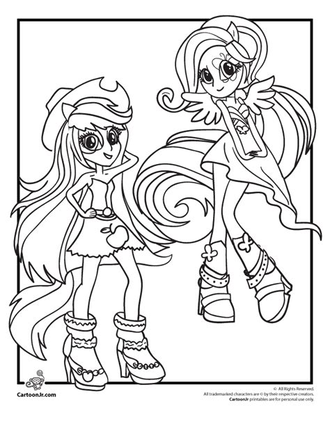 pony coloring pages rainbow dash equestria girls