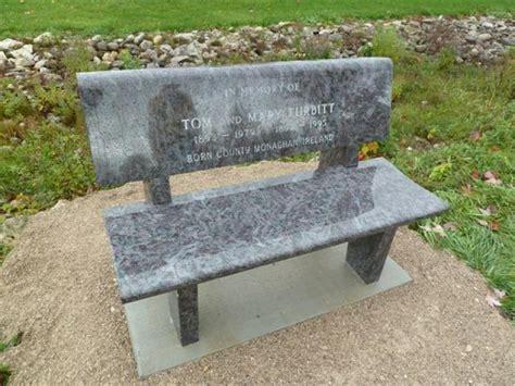 granite memorial bench vandals in listowel damage heavy granite memorial bench