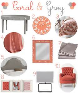 coral and gray bedroom decor of mind