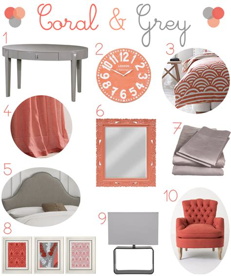gray and coral bedroom ideas coral and gray bedroom decor peach of mind