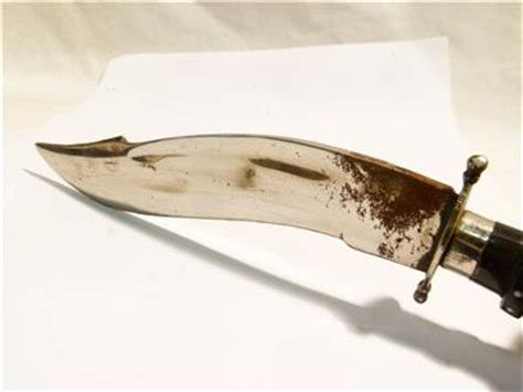 curved knives types antique vintage india kukri type curved knife in leather