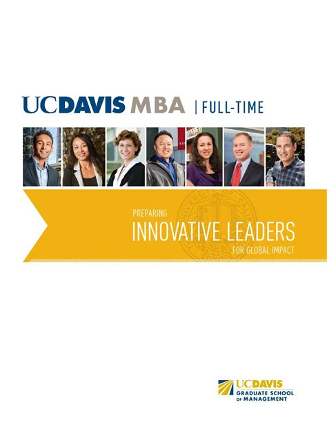 Uc Davis Time Mba by Uc Davis Time Mba Brochure 2015 By Uc Davis