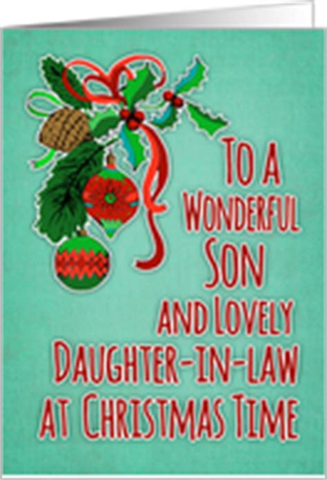 christmas cards  son daughter  law  greeting card universe