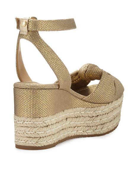 michael kors gold wedge sandals michael michael kors maxwell mid wedge sandal gold