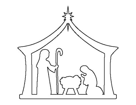 free nativity tunnel card template nativity pattern use the printable outline for crafts