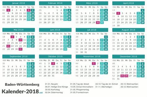 Kalender 2018 Baden Württemberg Zum Ausdrucken Kalender 2018 Baden W 252 Rttemberg