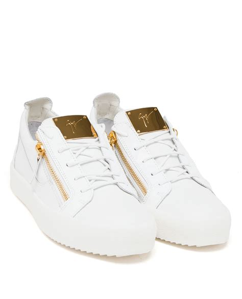 giuseppe zanotti white sneakers giuseppe zanotti sneakers white and gold
