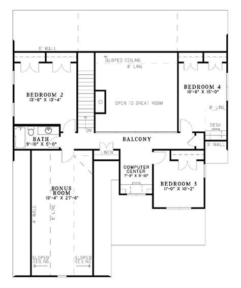 second floor floor plans craftsman house plan home plan 153 1781 the plan
