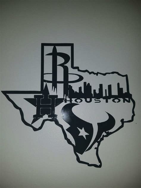 T Shirt Diesel Fth Berkualitas houston texans astros rockets and skyline metal wall