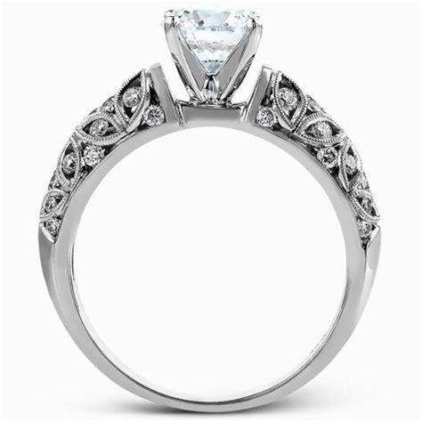 simon g filigree vintage style diamond engagement ring
