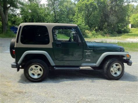 Find Used 2001 Jeep Wrangler Sport Forest Green Dark
