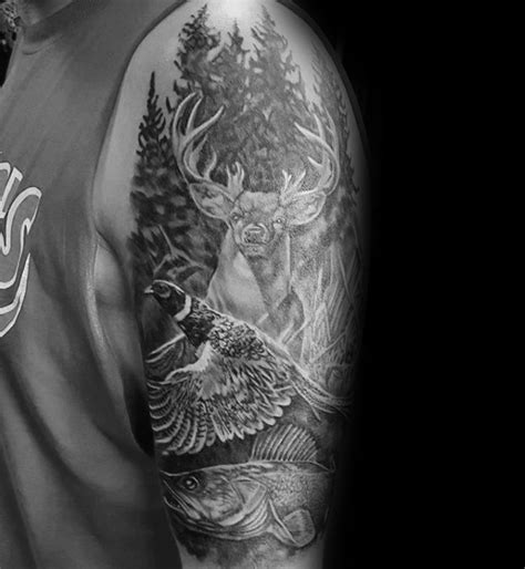 nature quarter sleeve tattoo 40 pheasant tattoo designs for men bird ink ideas