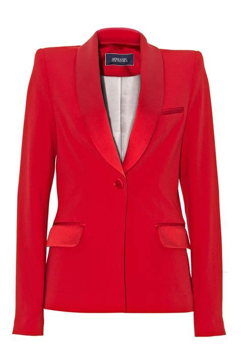 Veste de smoking, smoking femme, smoking rouge   stefanie renoma.com   Stefanie Renoma
