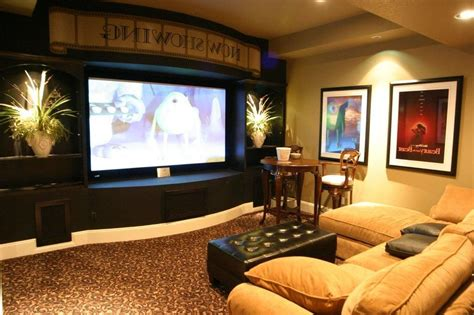 tv room layout media room using basement decorating ideas basement ideas