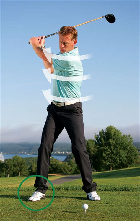swing right turn your right foot out golf tips magazine