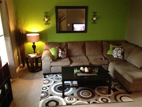 Green And Brown Living Room | green and brown living room decker house upgrades