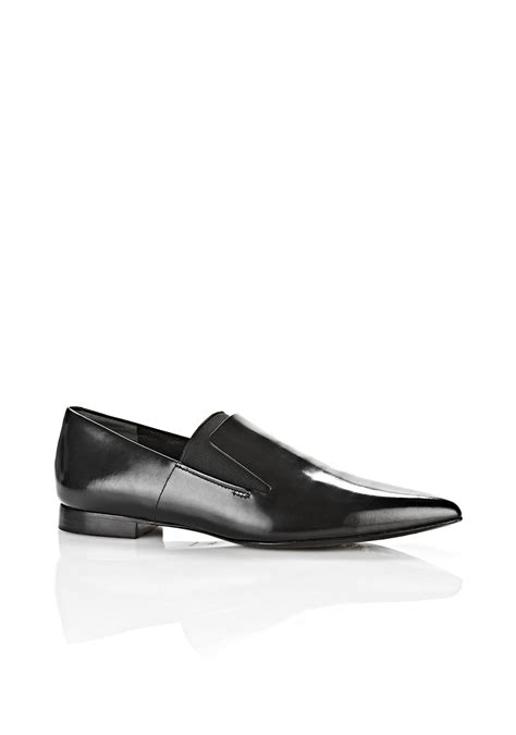 wang oxford shoes lyst wang leather oxford shoes in black