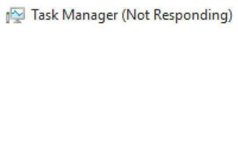 Applied For References Not Responding De Task Manager Not Responding File Options View Microsoft