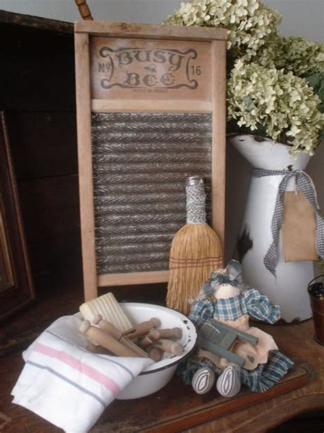Country Laundry Room Decorating Ideas Primitive Laundry Room Gathering Lovin Primitives Pi