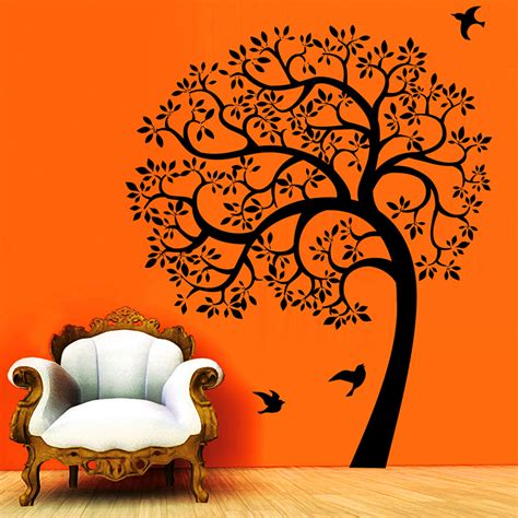 Wall Sticker Online buy cw decor morning with nature wall sticker black online in india