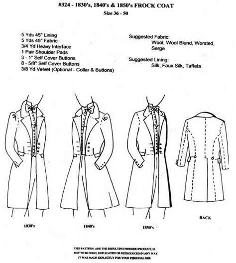 coat pattern frock coat christopher bradshaw s project bin