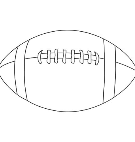 football outline template best football outline 8607 clipartion