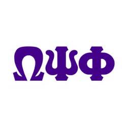 omega psi phi colors omega psi phi big letter window sticker decal sale